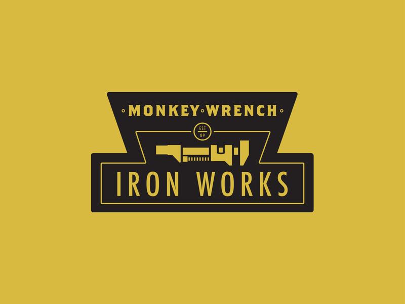 Monkey Wrench Iron Works Logo Rebrand logo design branding wrench iron works logodesign graphicdesign logotype rebranding