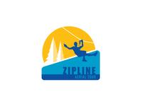 Pinnacle Zipline Logo Concept graphicdesign adventure aerial park illustration logo icon
