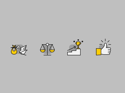 Purpose Icons thumbs up confident kids simple steps balance first start young branding graphic design vector icon design iconography icon