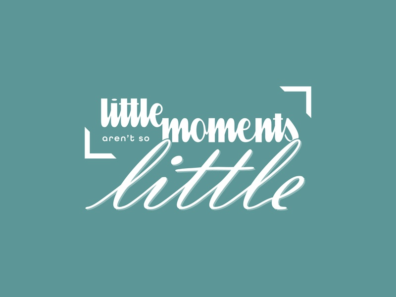 Little Moments | Marketing Holiday Campaign typography logo marketing campaign typography custom typography