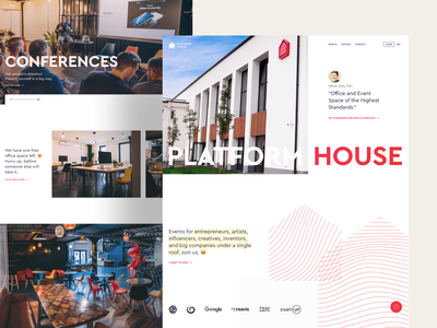 PLATFORM House - Website coffee water slide concept coworking space coworking homepage grid style design webdesign web ui ux