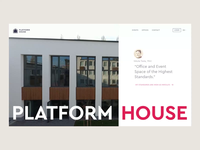 PLATFORM House - Website coworking space coworking homepage grid style design webdesign web ui ux