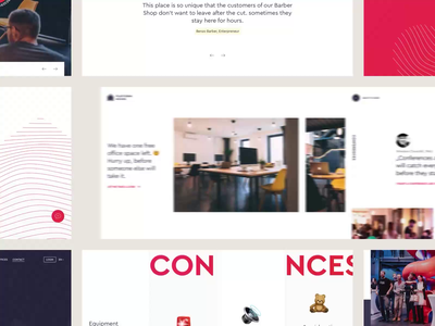 PLATFORM House - Website coworking space coworking homepage grid style webdesign web ui ux