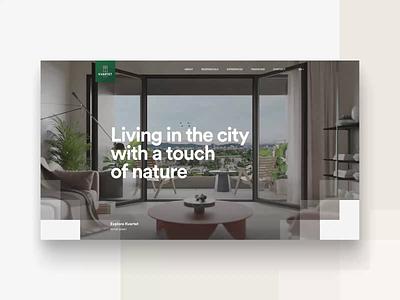KVARTET Website - part 1 apartments kvartet design ux ui ui designs ui design uxdesign webdesign web homepage