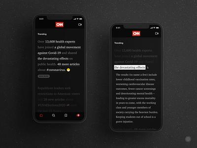 Non-linear reading (redesign) ui ux app news cnn nonlinearreading