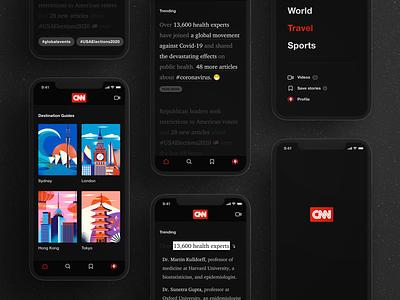 Non-linear reading (CNN new redesign) concept design ui ux app news cnn nonlinearreading