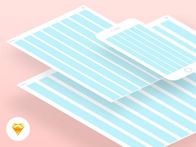 Free responsive grid for Sketch 10 8 sketch bit responsive free web tablet mobile grid
