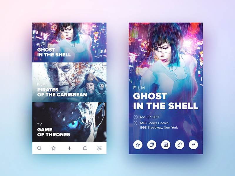 Movie listings ios mobile app ux ui listing movies cinema