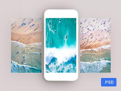 Free minimalistic white iPhone 7 mockup ux ui style photoshop mockup mobile iphon free white minimalistic ios app