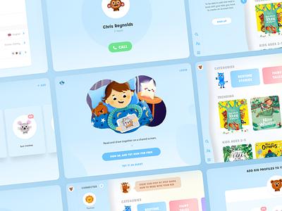 Kids app app tablet faity tales book kid storie reading ios iu ux illustration