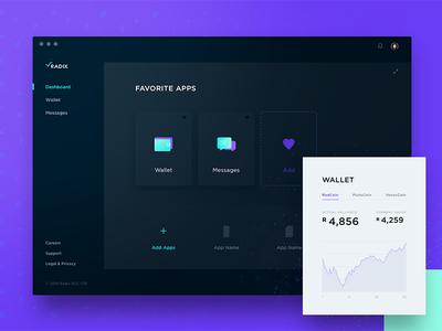 Radix dashboard and wallet