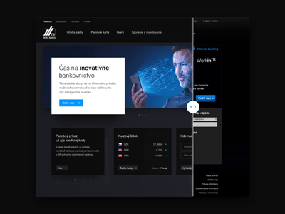 Tatra banka website redesign new bank homepage design style webdesign web ui ux