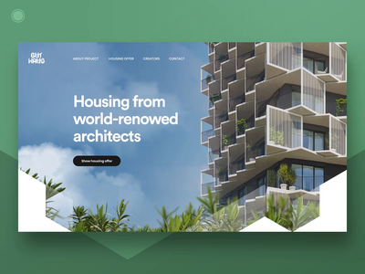 Residential project Homepage - part 1 flats architecture developer residential housing flat apartments grid homepage design style webdesign web ui ux