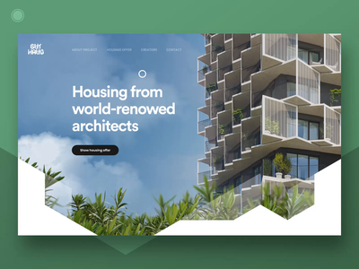 Residential project Homepage  - part 4 architecture residential developer flats apartments grid design style webdesign web ui ux