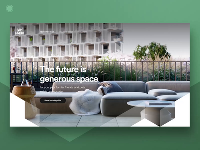 Residential project Homepage - part 3 housing residential architects developer apartament flat grid design webdesign web ui ux