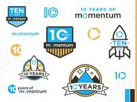 Momentum 10 Year Logo