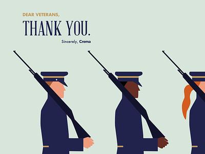 Veterans Day character thank you line war uniform guns solider veterans day veteran holiday illustration flat