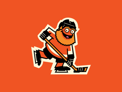 Retro Gritty hockey philadelphia flyers gritty