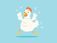 Clucker cluck farm bird chicken