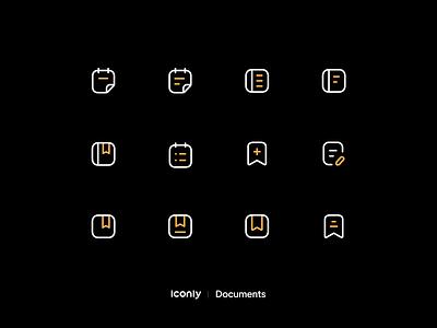 Iconly Pro P2 notebook vector illustration iconography iconpack iconsset save note document seticon iconset icondesign icons icon