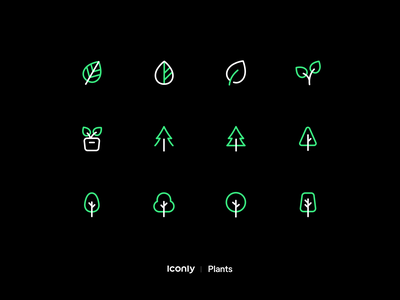 Iconly Pro | Plants icons flower trees tree iconly pro iconly plant plants design ui illustration iconset icons iconpack iconography icondesign icon