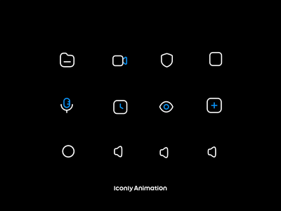 Iconly Animation P3 motion graphics graphic design animation ui logo illustration design iconset icons iconpack iconography icondesign icon
