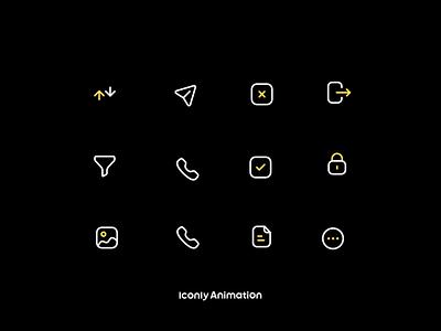 Iconly Animation P5 motion graphics animation ui logo illustration design iconset icons iconpack iconography icondesign icon