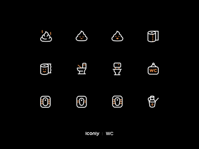 Iconly Pro | WC icons logo branding toilet wc wc icons illustration design iconset icons iconpack iconography icondesign icon ui