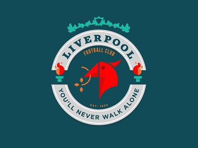 Liverpool FC football logo illustration badge reds ynwa liverpoolfc