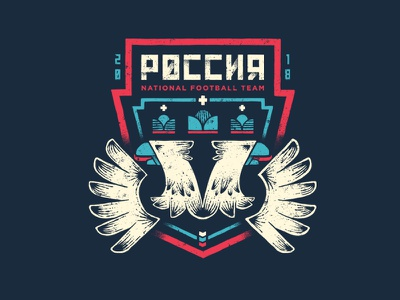 Russia badge design badge soccer football russia 2018 world cup