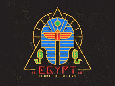 Egypt world cup soccer the pharaohs egypt football badge design badge 2018