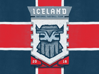 Iceland wold cup soccer illustration football fifa badge design badge rock giant our boys iceland 2018