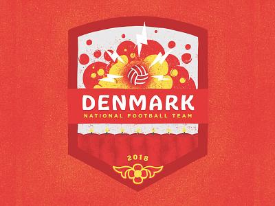 Denmark 2018 denmark danish dynamite badge badge design fifa football illustration soccer wold cup