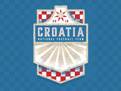 Croatia illustration football fifa wold cup soccer the blazers croatia badge design badge 2018