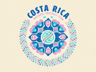 Costa Rica wold cup soccer illustration football fifa badge design badge death la muerte costa rica 2018