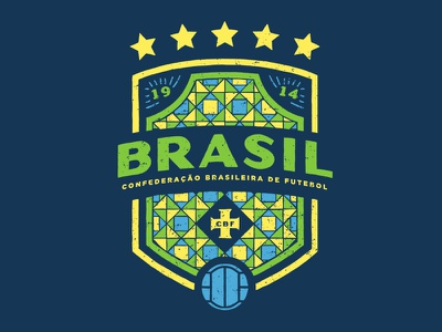 Brasil wold cup soccer pattern illustration football fifa the green and yellow the squad brazil badge design badge 2018