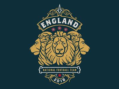 England the three lions england soccer illustration football fifa badge design badge 2018 world cup