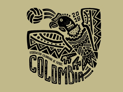 Colombia condors the coffee growers colombia soccer illustration football fifa badge design badge 2018 world cup