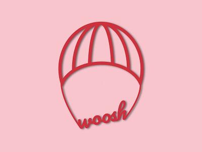 Woosh Logo illustration vector minimal logo graphic design design dailylogochallenge