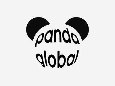 Panda Global Logo planet animal panda vector minimal logo graphic design design dailylogochallenge