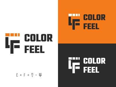 Color Feel Logo logo design color paint client work branding vector minimal logo graphic design design