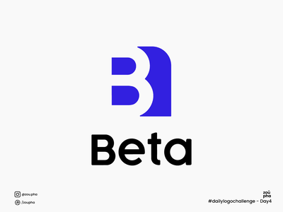 Beta Logo beta branding illustration logo design dailylogochallenge vector minimal logo graphic design design