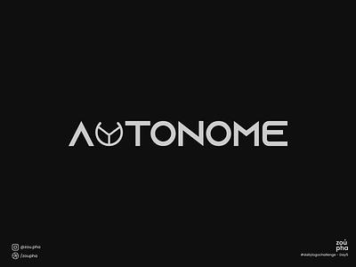Autonome Logo steering wheel car branding illustration logo design dailylogochallenge vector minimal logo graphic design design