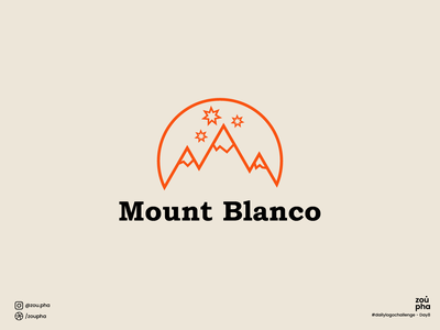 Mount Blanco Logo mounttain ski mountain branding logo design dailylogochallenge vector logo minimal graphic design design