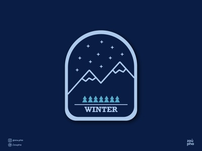 Winter Badge badge winter weekly warm-up illustration vector minimal graphic design design