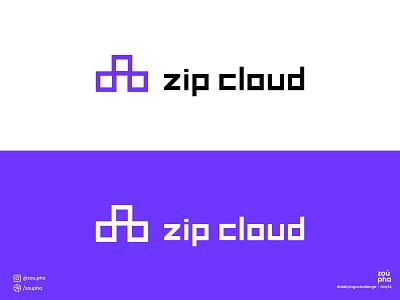 Zip Cloud Logo branding logo design dailylogochallenge logo vector minimal graphic design design