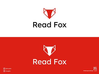 Read Fox Logo branding illustration logo design dailylogochallenge logo vector minimal graphic design design