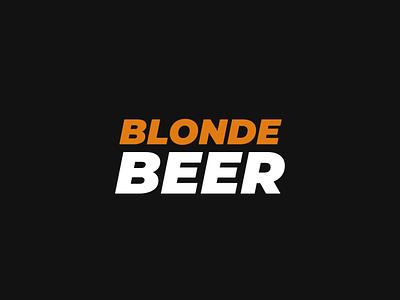 BLONDE BEER vector logo illustration design instagram graphic design feed branding