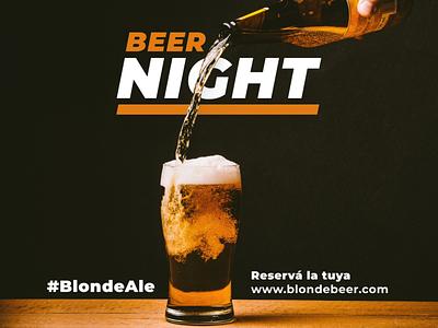 BLONDE BEER NIGHT vector logo illustration design instagram graphic design feed branding