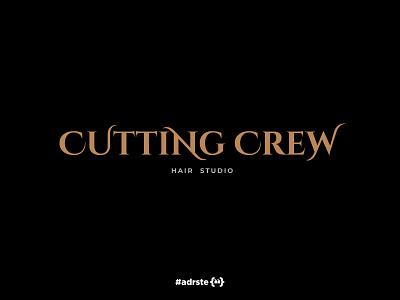 Cutting Crew  logo design logo design branding brand custom type logo hair studio hairdresser hair salon hairstyle haircut hair cutting
